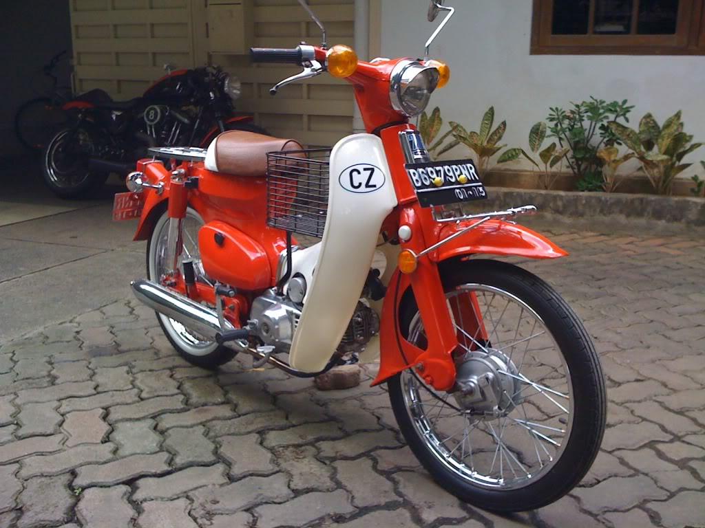 modifikasi motor honda c70  tahun ini