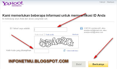 Cara membuka email yahoo yang lupa password