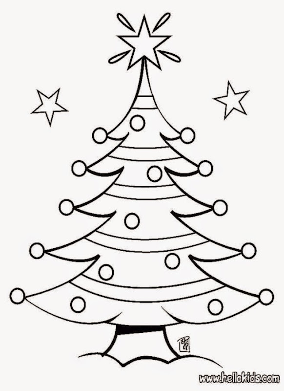 Christmas Tree Pictures To Color | Free Coloring Pictures