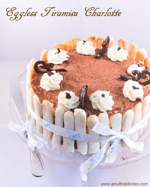 Eggless Tiramisu Cak