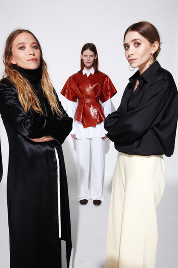Mary Kate and Ashley Olsen W May 2015 in the Row photographed by Nigel Parry