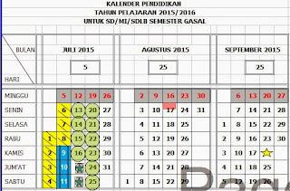 Download Kalender Pendidikan Tahun 2015/2016