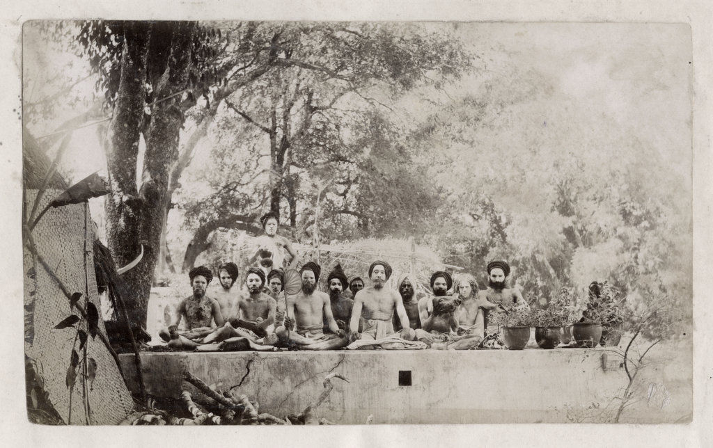 Group of Indian Hindu Religious Ascetic or Sadhus - c1880's