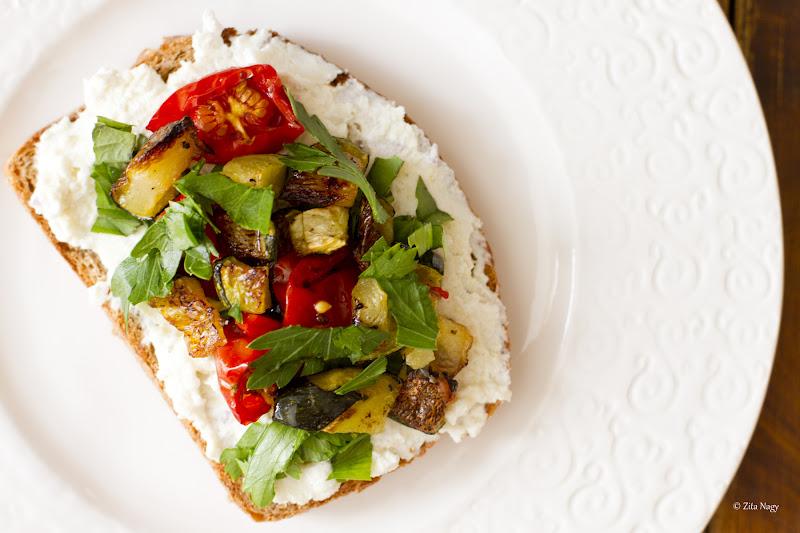 Zucchini Cherry Tomato Ricotta Toast : Zizi's Adventures – Real Food ...