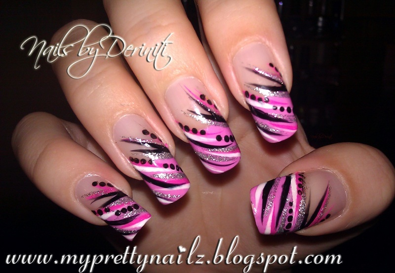 My Pretty Nailz Diva Tips French Tip Nail Art Design Manicure And