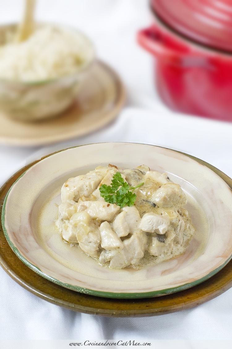 receta de pollo strogonoff