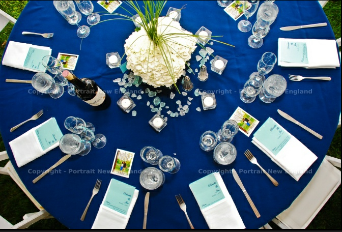 nautical themed wedding reception