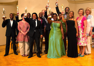 Winners and invited judges at the 2013 Amazawi Omzansi Africa / Voices of South Africa Project