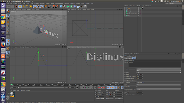 Cinema 4D no Linux