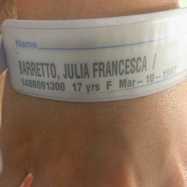 Julia Barretto rushed to hospital due to high fever