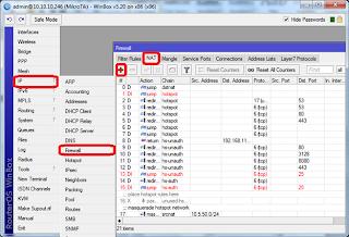 mikrotik - IP firewall