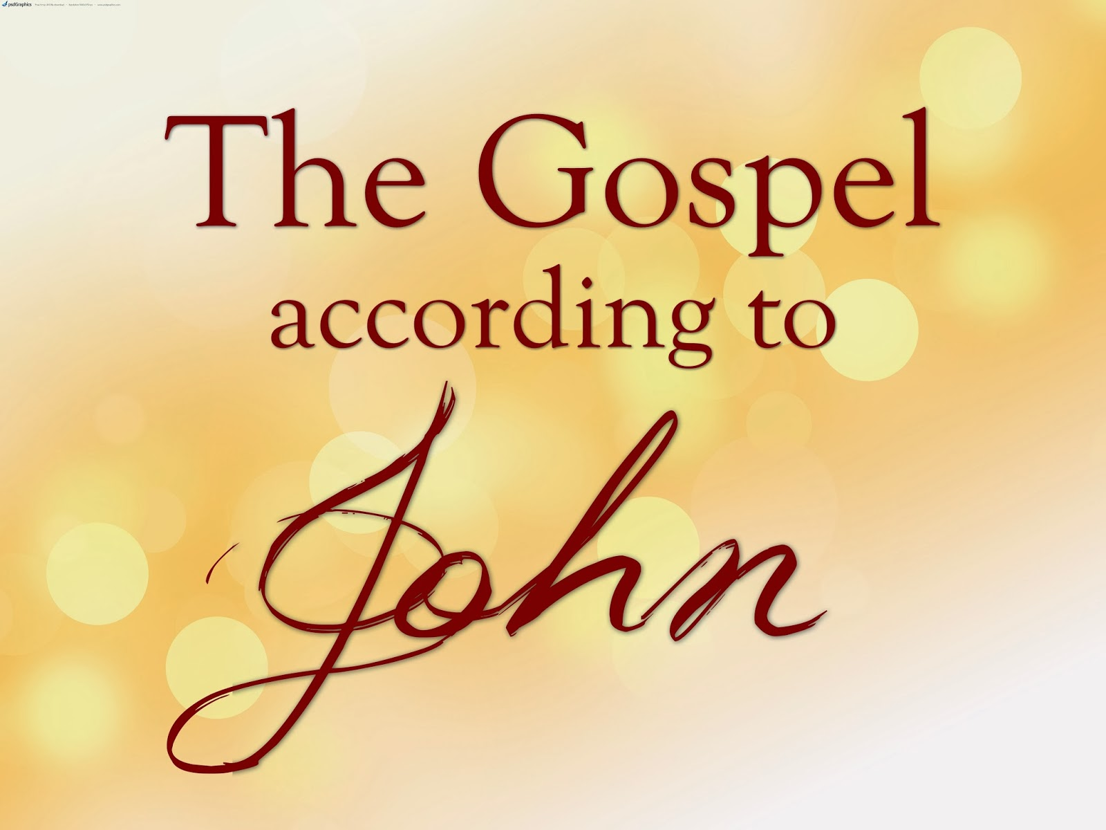 the gospel of john an The gospel of the beloved disciple, john, the son of zebedee, is admittedly different from the synoptic gospels, matthew, mark and luke but different does not imply.