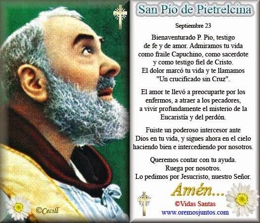 Oración San Pío Pietrelcina