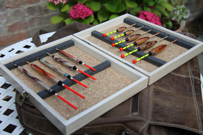 Cork Lined Box of Floats, Windbeaters & Insert Wagglers
