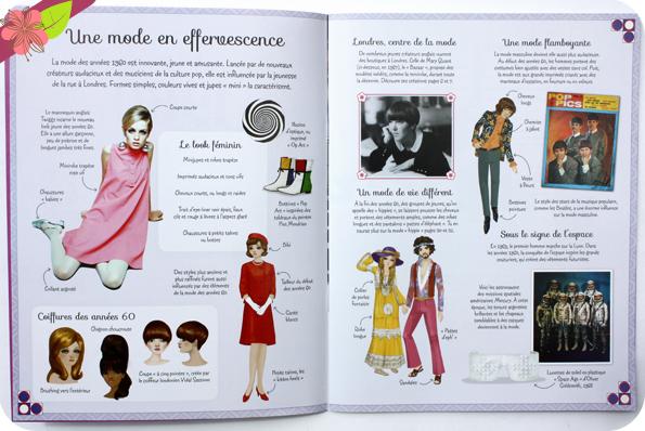 J'habille mes amies - à travers l'Histoire : La mode des années 1960 - Usborne