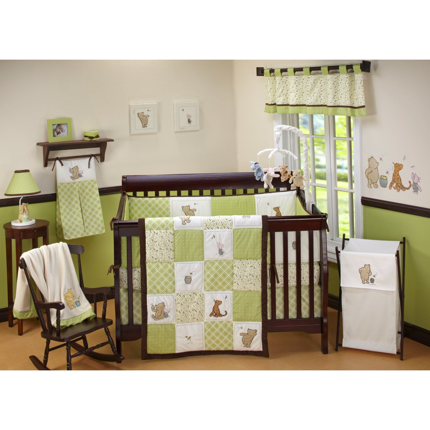 Nursery room ideas winnie the pooh crib bedding set for Babies decoration
