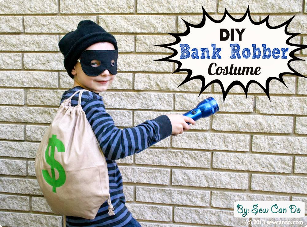 My kids took it easy on me this year and came up with some simple costume requests. And let me tell you I am seriously grateful. Costume hat orders for my ...  sc 1 st  Sew Can Do & Sew Can Do: Easy DIY Costumes: Old Time Bank Robber u0026 BOO-tiful Ghost