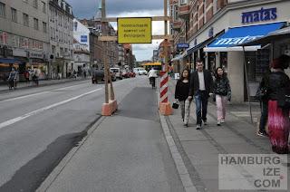 Kopenhagen, Amagerbrogade - Wegweisung