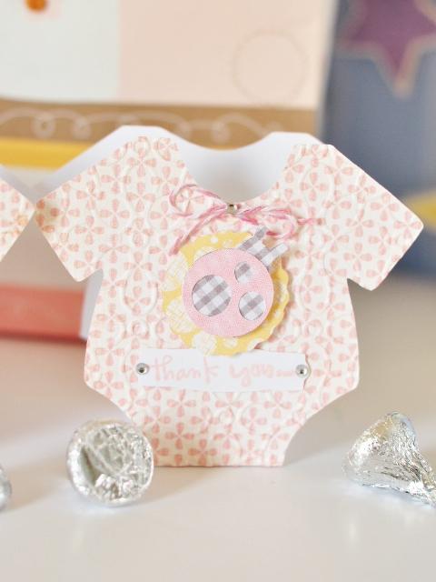 Baby Shower Favors Using Cricut ~ Ginger williams cricut baby shower thank you favors