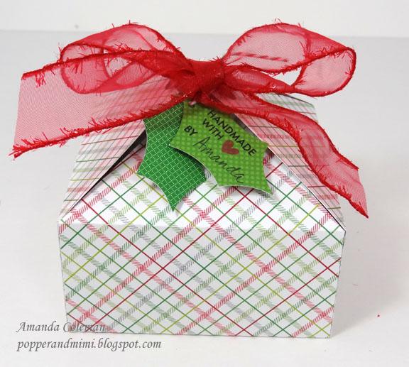 Paper Christmas Treat Box | popperandmimi.com