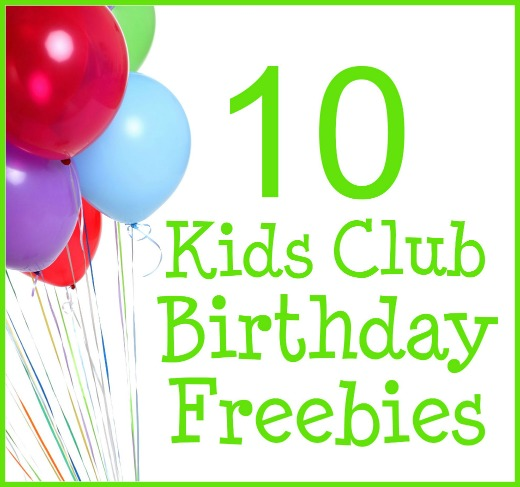 free stuff for kids on their birthdays
