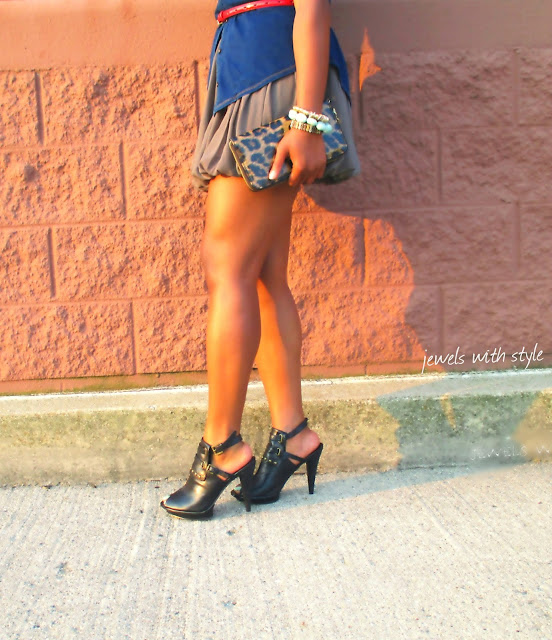heels, M Renee Design, shoes, forever 21 skirt, red jewelry, fashion blogger, black fashion blogger