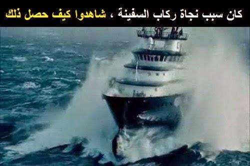 كان سبب نجاة ركاب السفينة ، شاهدوا كيف حصل ذلك