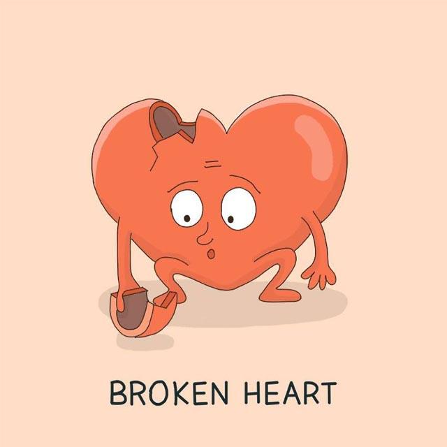 funny broken heart