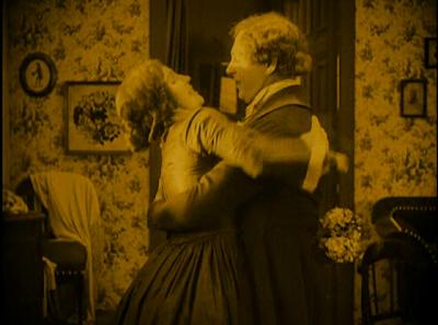 Gustav von Wangenheim Hutter, Greta Schröder as Hutter's devoutful wife Ellen, Nosferatu, Directed by F. W. Murnau