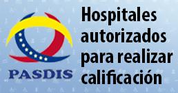 HOSPITALES AUTORIZADOS PARA REALIZAR LA CALIFICACIÓN DE LA DISCAPACIDAD