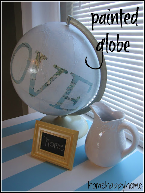 painted globe project