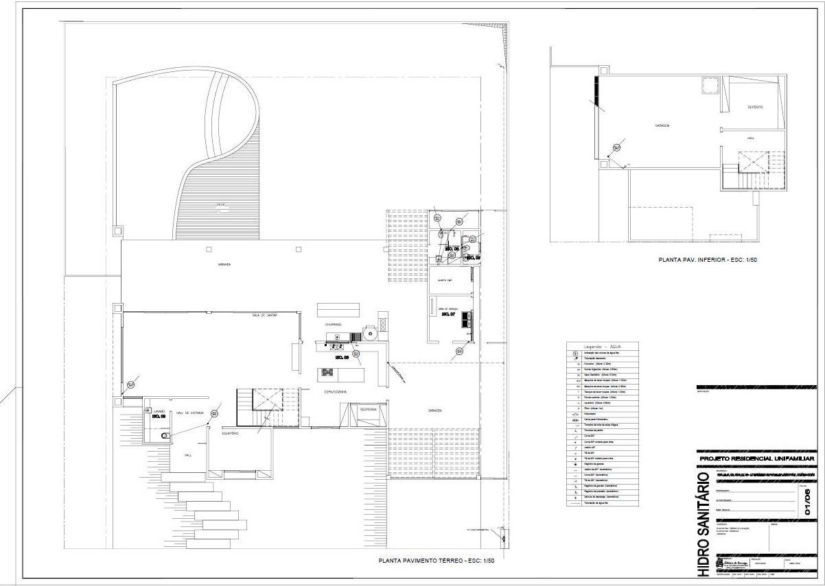 Projetos & Desenhos: Projeto Hidro Sanitário #636768 1202 855
