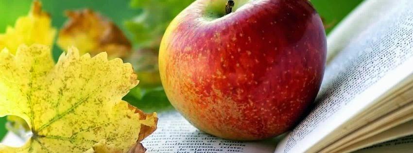 Belle image de couverture facebook pomme