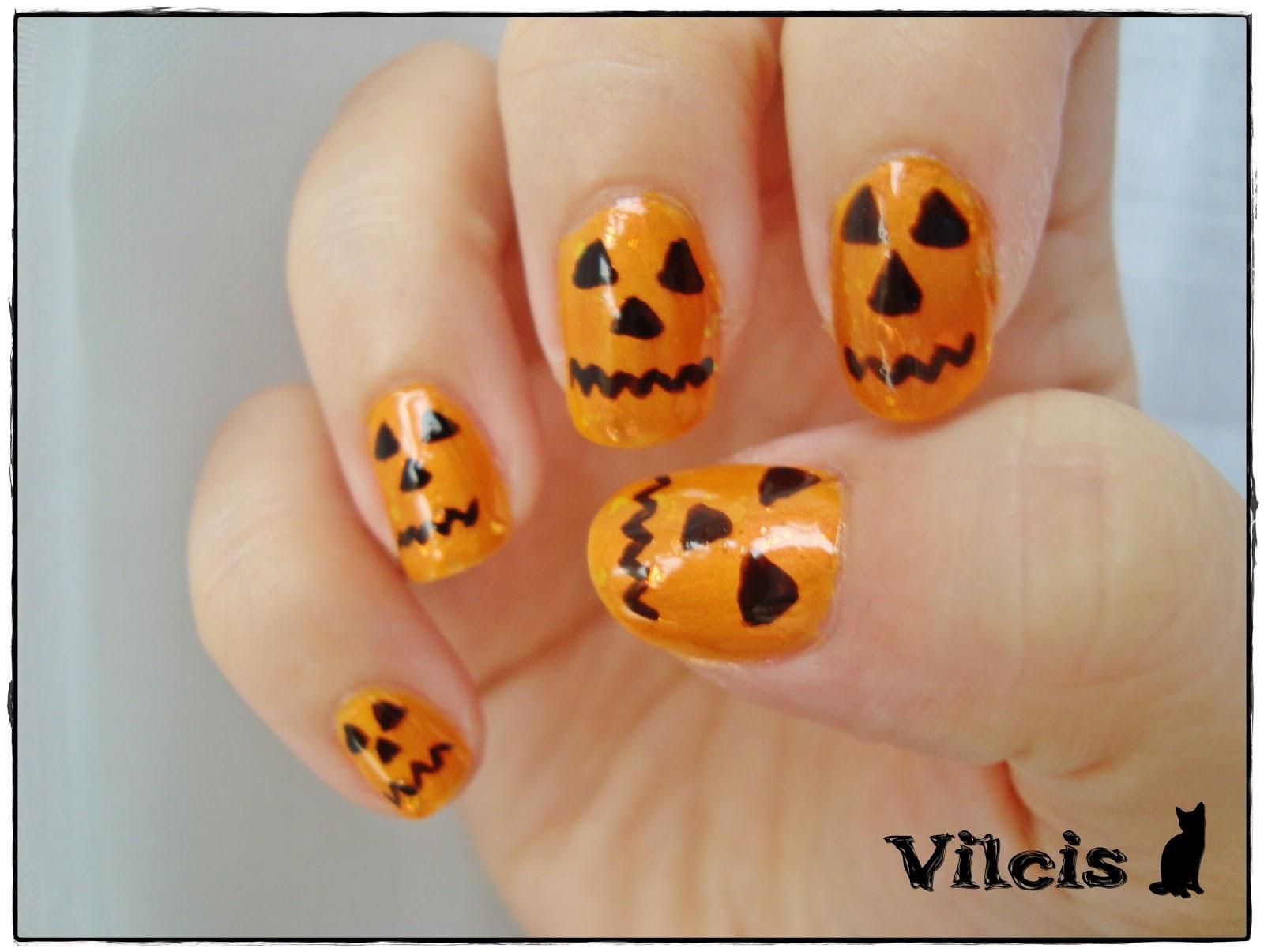 Dise o de halloween calabazas unas de acrilico u as - Disenos de calabazas de halloween ...