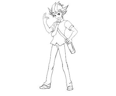 #7 Yuma Tsukumo Coloring Page