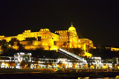 Buda Castle in Budapest Hungary at Night
