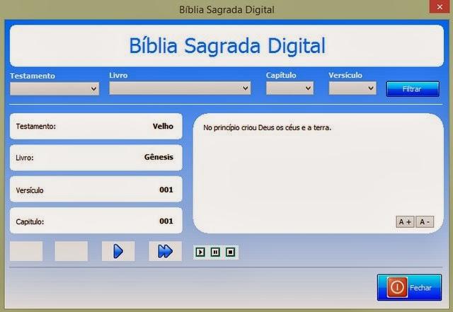 Leia e ouça a Bíblia Sagrada no computador