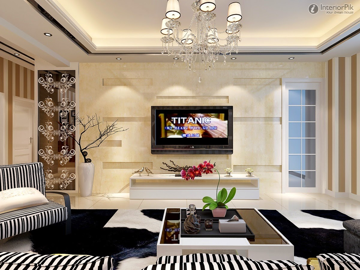 Living room design catalog new modern living room tv background wall design pictures - Modern tv rooms design ...