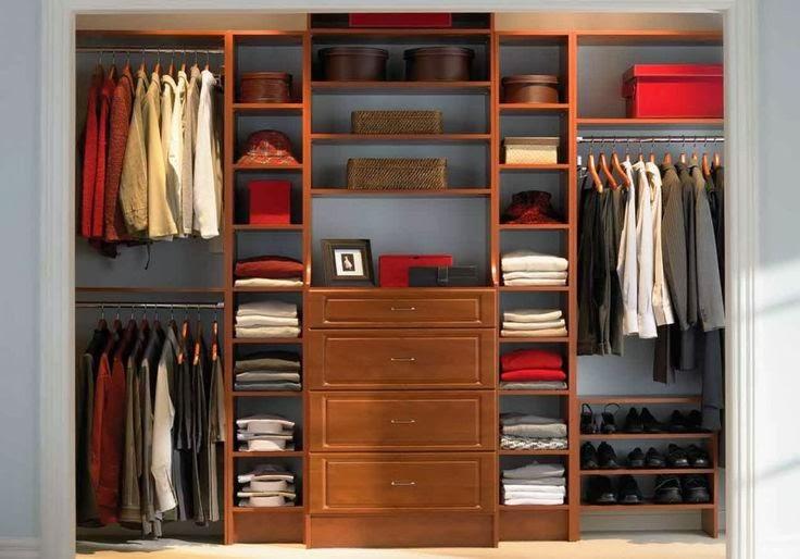 Closets modernos de madera para j venes decorar tu for Closet modernos para hombres