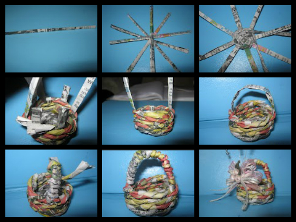 Woven Basket Procedure : Diy craft and arts
