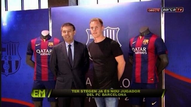 تير شتغين مع رئيس برشلونة بارتوميو