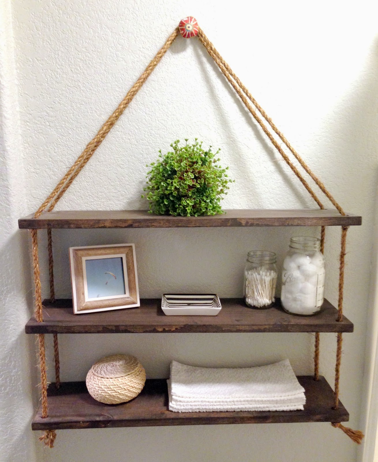 DIY Rope Shelf
