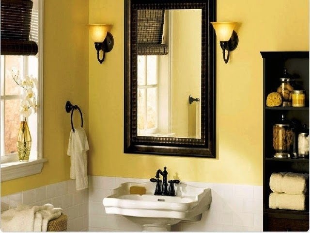 Accent wall paint ideas bathroom for Bathroom accent ideas