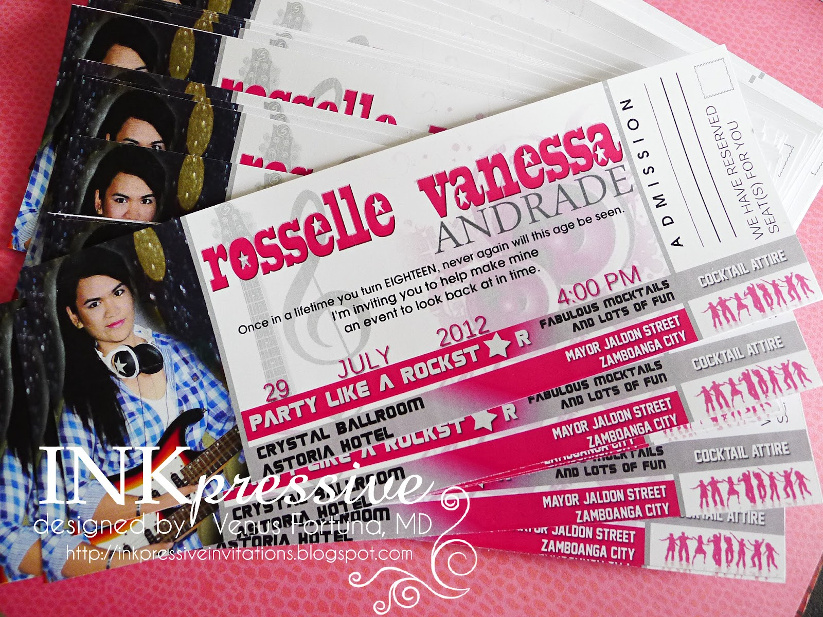 Music themed pop star debut ticket invitation inkpressive invitations music themed pop star debut ticket invitation stopboris Images