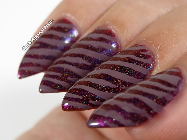Hits Mari Moon So Unique with BPS Zebra Striped Nail Vinyls