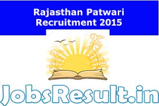 Rajasthan Patwari Recruitment 2015