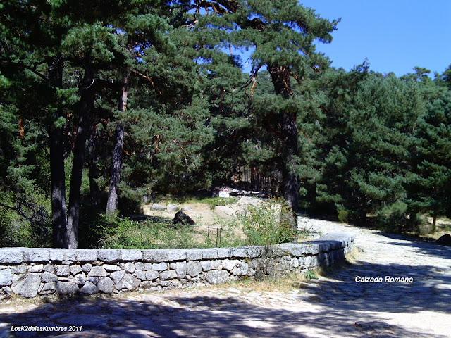Inicio de la Calzada Romana en las Dehesas de Cercedilla