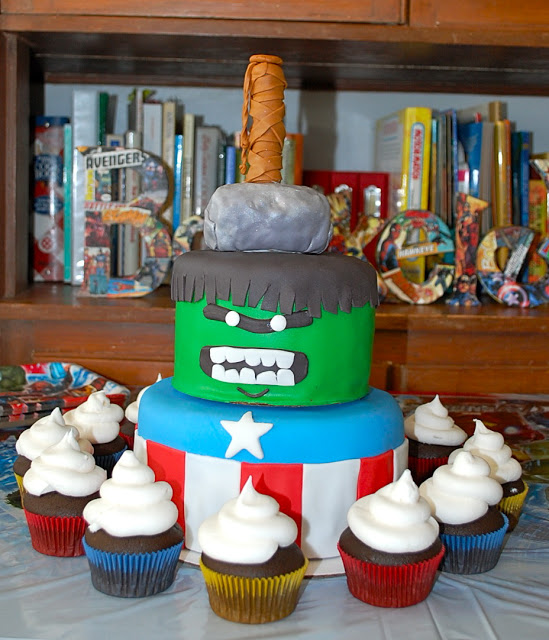 Much Ado About Somethin Avengers Birthday Cake