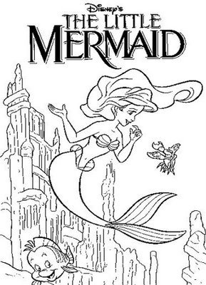 Smart image for little mermaid printable coloring pages