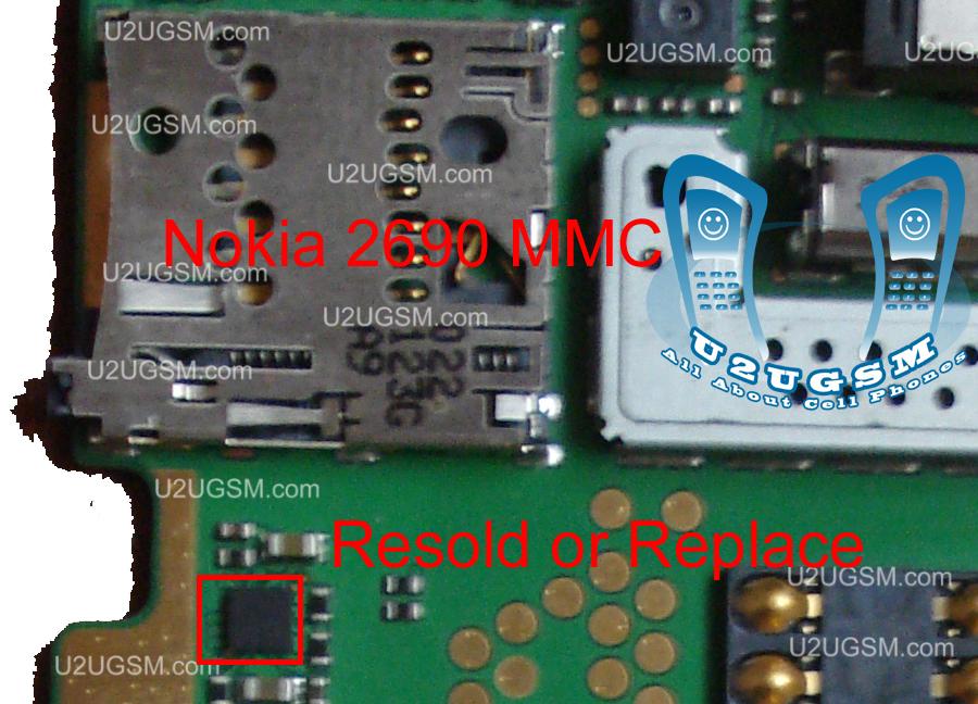 Nokia-2690-MMC-problem-solution-jumpers-ways.